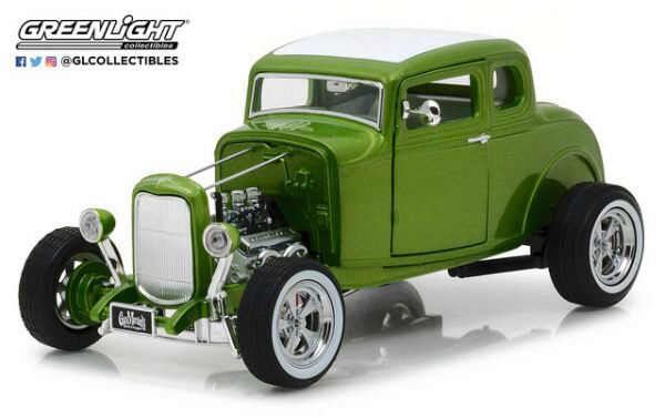 Greenlight 12974 1932 Custom Ford Hot Rod Metallic green