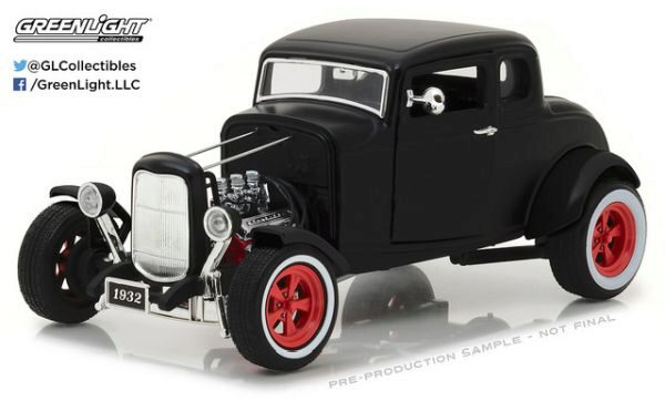 Greenlight 12975 1932 Custom Ford Hot Rod Matte Black