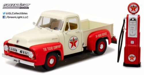 Greenlight 12991 1953 Ford F-100 Texaco/ Vintage Texaco Gas Pump