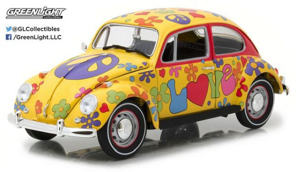 Greenlight 13509 Volkswagen Beetle 1967, Hippie Peace & Love