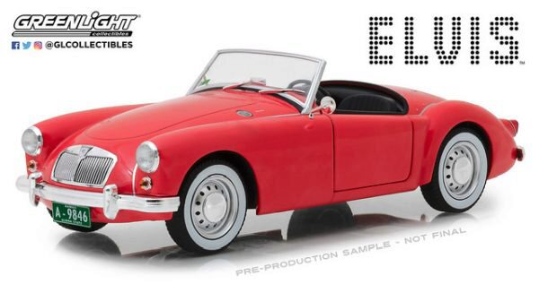 Greenlight 13524 1959 MG A 1600 Roadster MKI - Elvis Presley