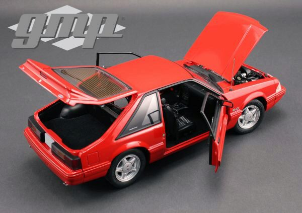 Greenlight 18804 GMP 1993 Ford Mustang LX, red