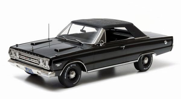 Greenlight 19007 1967 Plymouth Belvedere GTX Convertible black
