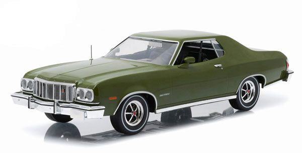 Greenlight 19018 1976 Ford Gran Torino, dark green metallic