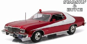 Greenlight 19023 1976 Ford Gran Torino Red Chrome Edition