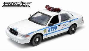 Greenlight 12920 2001 NYPD Ford Police Interceptor Light & Sound