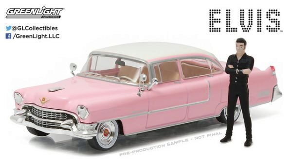 Greenlight 86436 1955 Cadillac Fleetwood Series 60- Pink/E.Presley