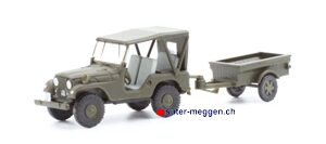 Swiss-Line 005102 Willys Overland Jeep CJ Personentransporter