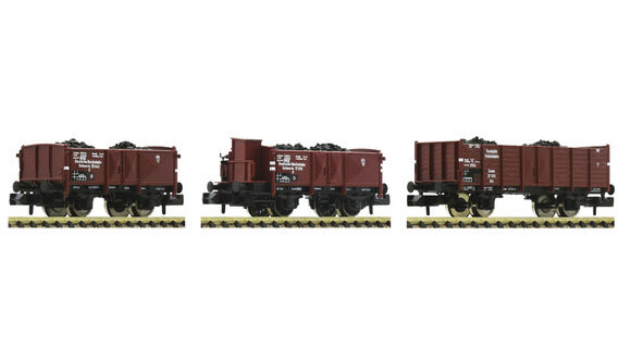Offener Güterwagen Bauart Omm52 3-teilig Fleischmann 820530 NEU Spur N