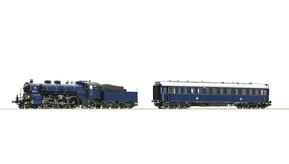 Roco 61473 K.Bay.Sts.B.  2-tlg. Set: Dampflokomotive S 3/6 und Salonwagen ~ AC-Digital-Sound