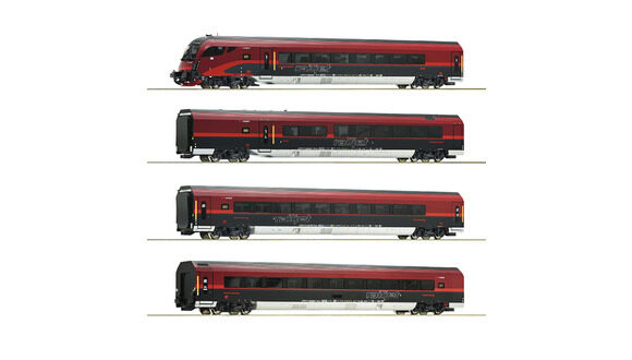 Roco 64190 4-tlg Set Railjet AC