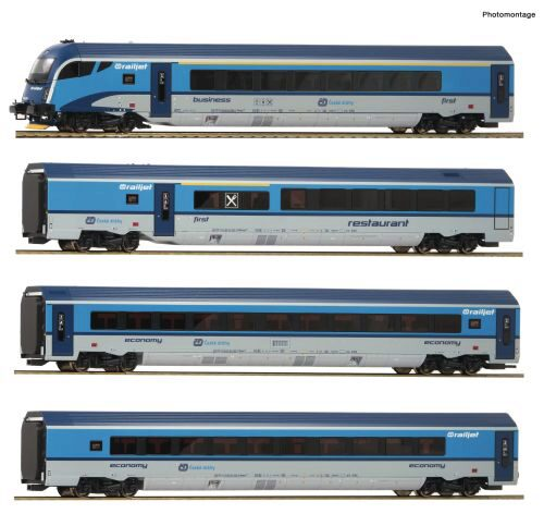"Roco 74144 CD  4-tlg. Set: ""Railjet"" ~ AC-Digital-Sound"