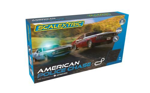 Scalextric C1405 American Police Chase (Javelin Police& Challenger)