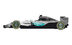 Scalextric C3706 Mercedes F1 2015 (2015 livery on 2014 car)