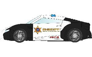 Scalextric C3709 Team Cops  Robbers Police Car