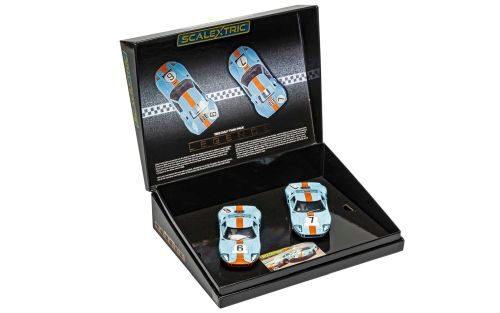 Scalextric C4041A Ford GT40 1969 - Gulf Twin Pack