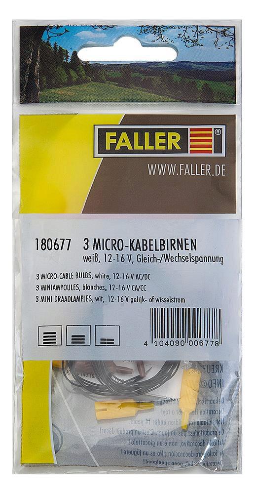 wei/ß FALLER 180677-3 Mikrokabelbirnen