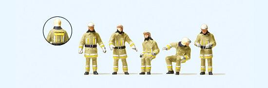 Feuerwehrmänner Roter Vollschutzanzug Preiser 10730 Figuren Spur HO 16,5 mm