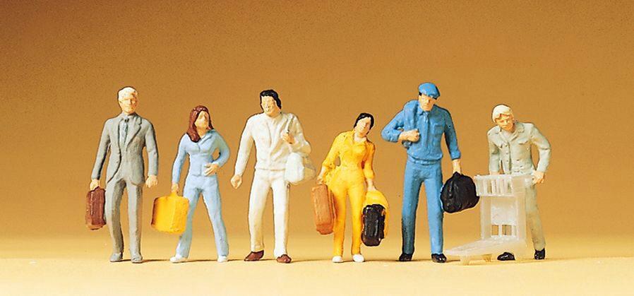 Preiser 14401 Stehende und gehende Reisende 24 Figuren stehend gehend H0 Neu