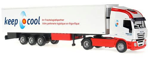 Rietze 60855 *Iveco Stralis 07 Kofferauflieger Keep Cool (CH)